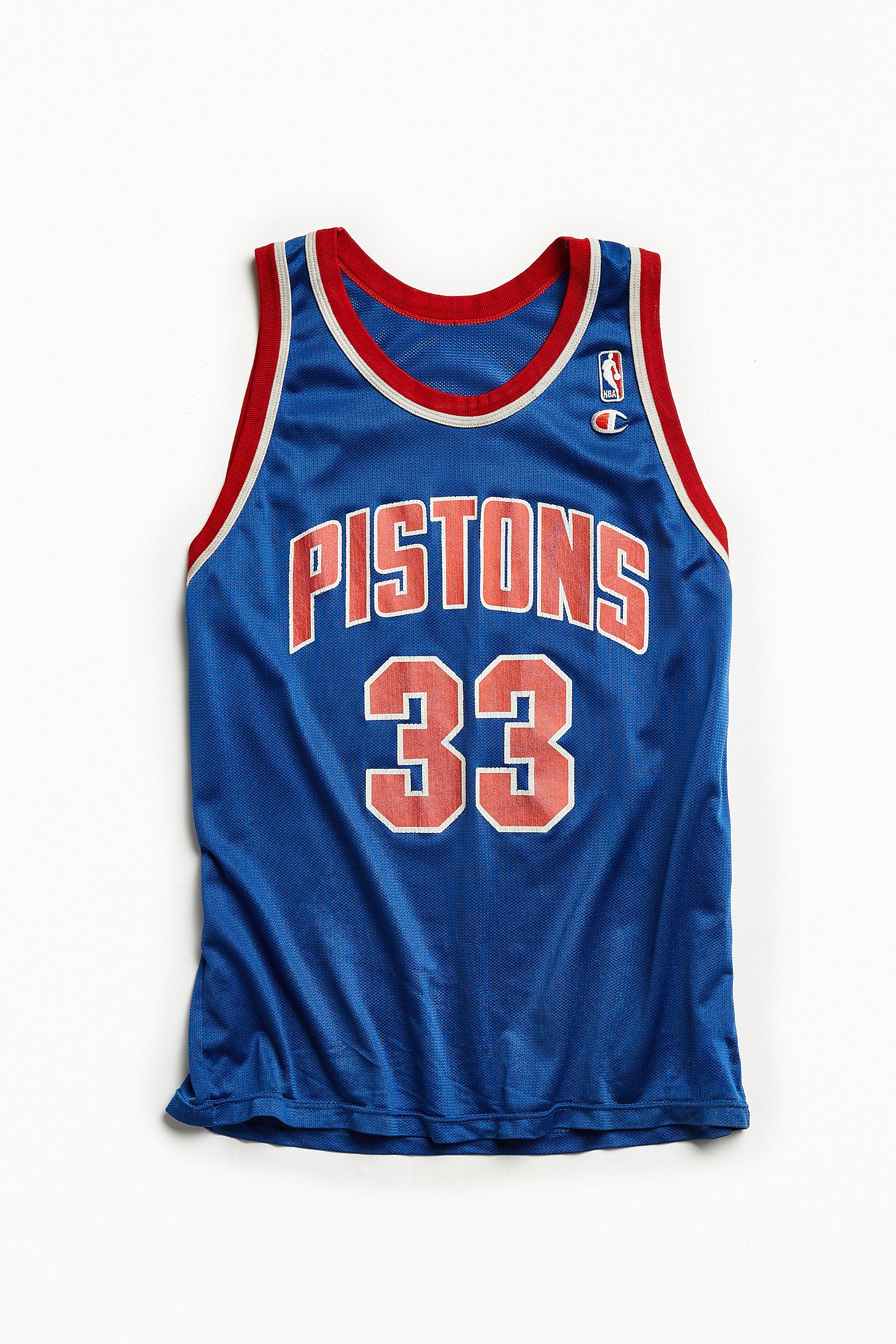 c58b10a40 Vintage Detroit Pistons Grant Hill Blue Basketball Jersey