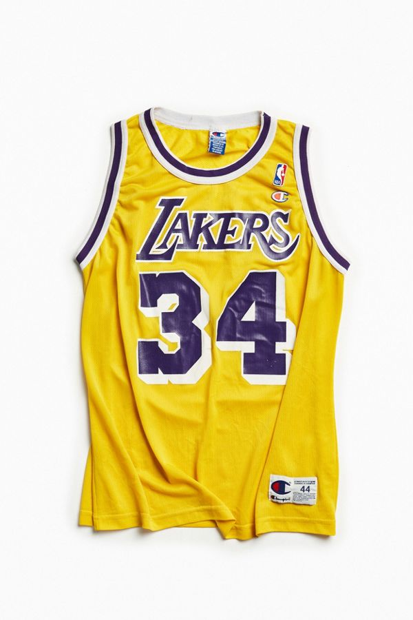 separation shoes b4716 53716 Vintage Los Angeles Lakers Shaquille O'Neal Basketball Jersey