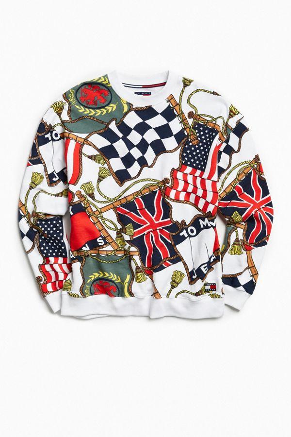 f9a075dc30a5 Tommy Hilfiger  90s Flag Crew Neck Sweatshirt
