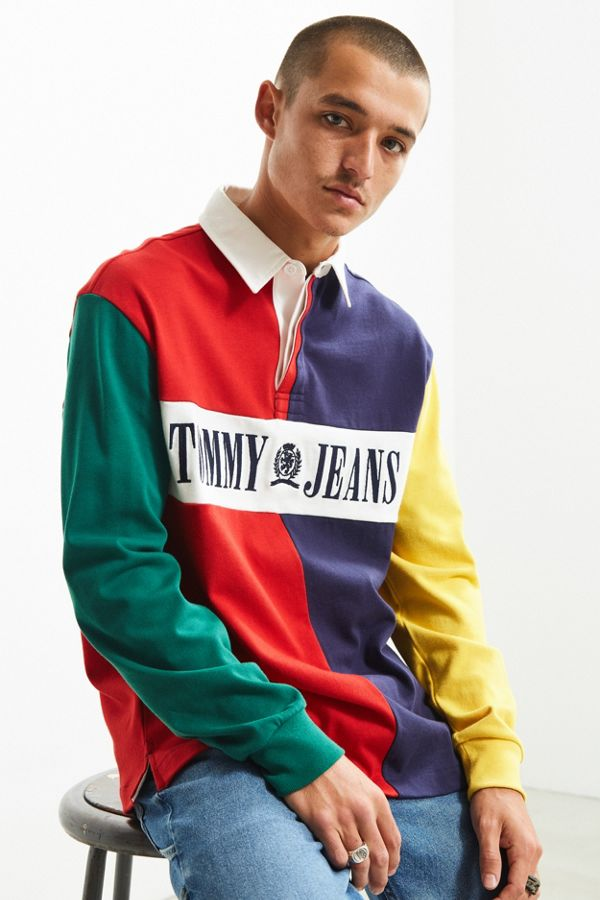 5aeb0535 Tommy Hilfiger '90s Colorblocked Rugby Shirt | Urban Outfitters