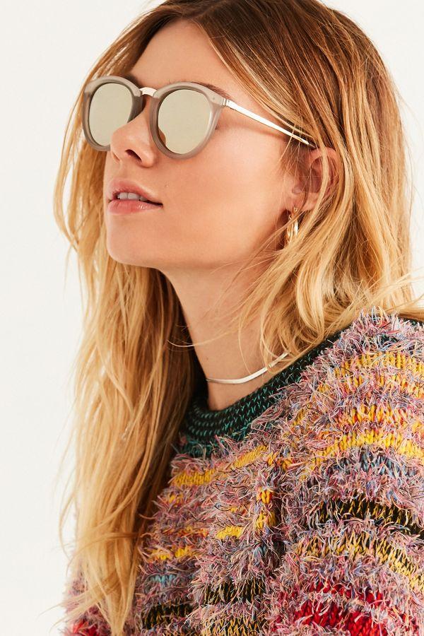 980dd3d5a5f3a Le Specs No Smirking Polarized Round Sunglasses