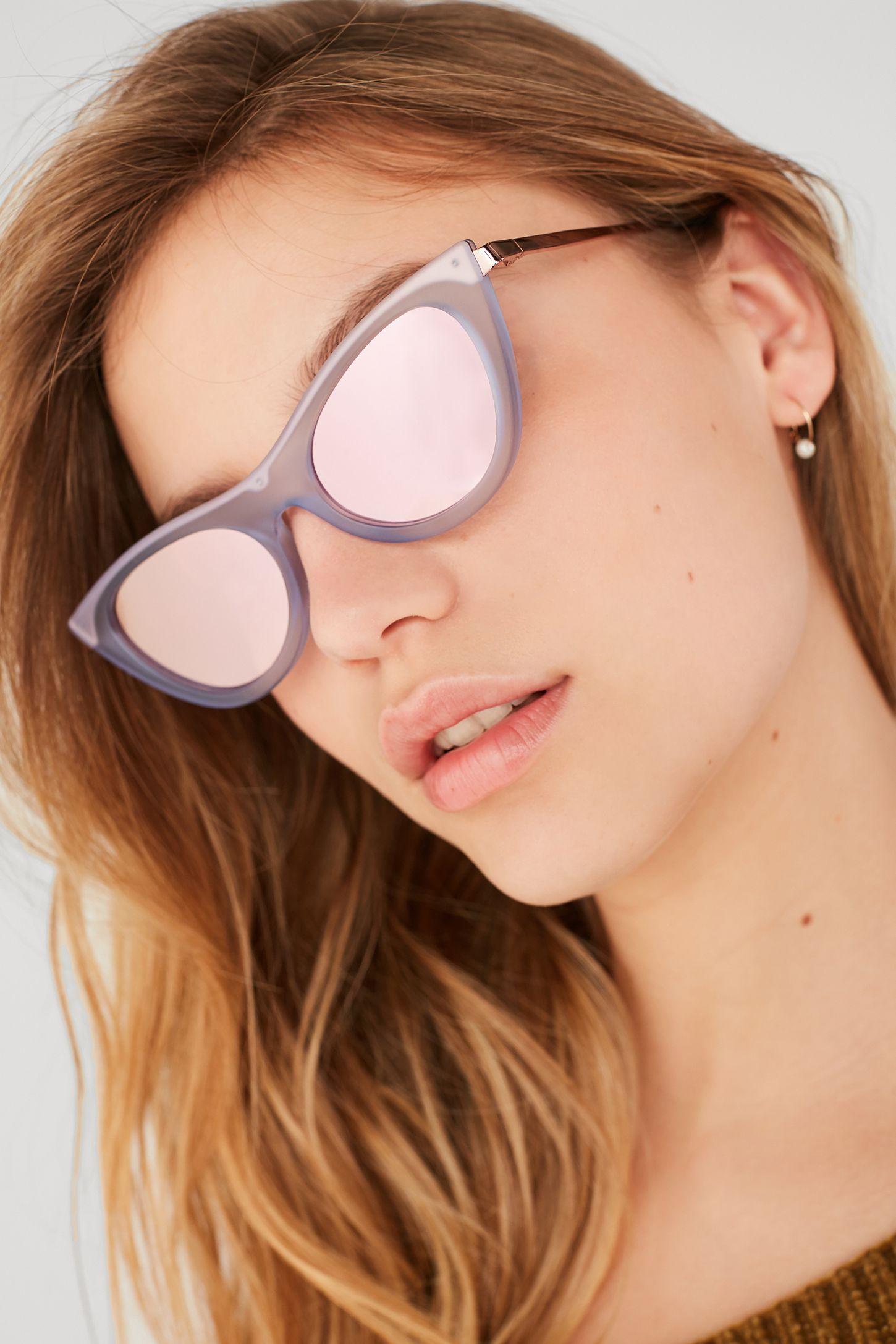 26b156ff087 Le Specs Enchantress Cat-Eye Sunglasses