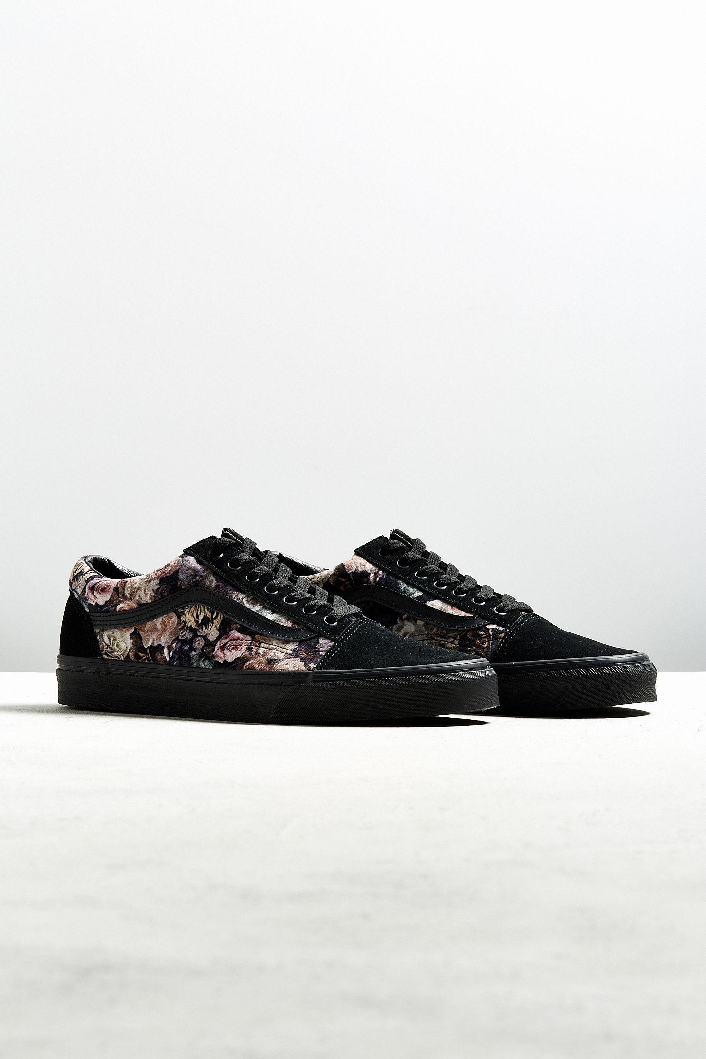 a414febffdc Vans Old Skool Floral Velvet Sneaker