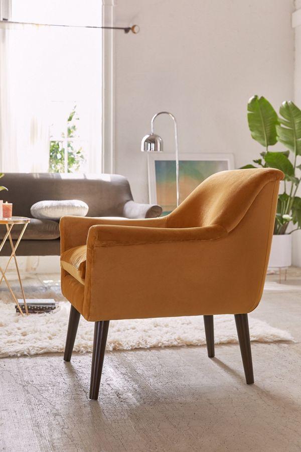 . Eleanor Velvet Arm Chair