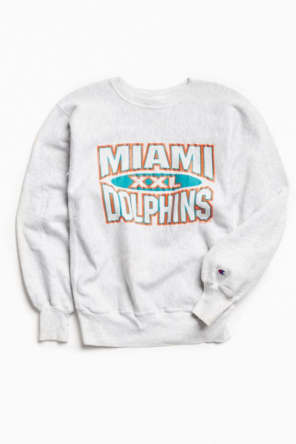 new product e9820 bd714 Vintage NFL Miami Dolphins Crew Neck Sweatshirt