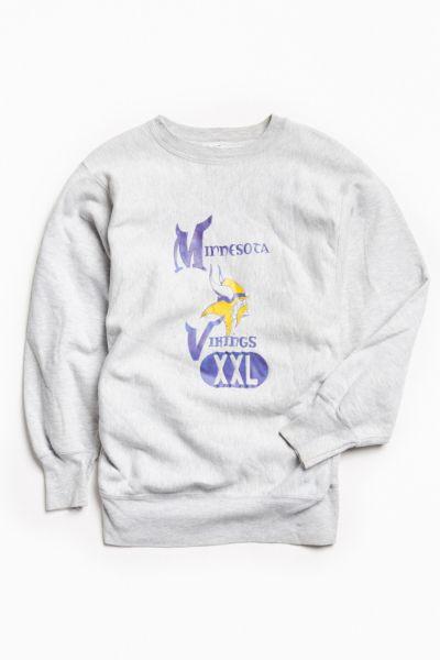minnesota vikings crew neck sweatshirt