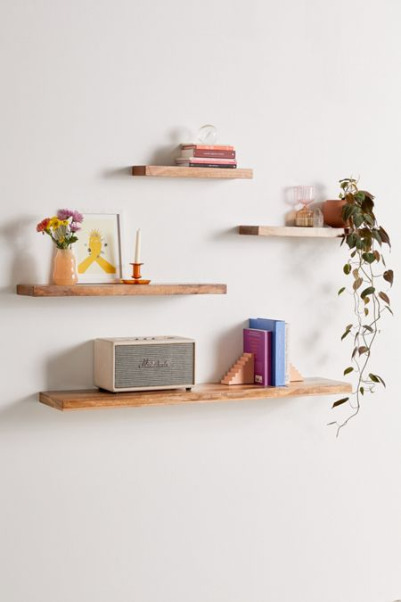 super popular ad039 6ad2a Wall-Mounted + Hanging Shelves - Wall + Storage Shelving ...