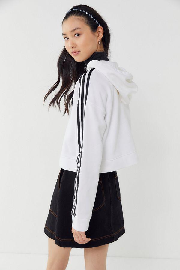 ddf83c96 adidas Originals Adicolor 3-Stripes Cropped Hoodie Sweatshirt