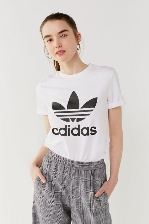 adidas Originals Adicolor Trefoil Logo Crew Neck Tee