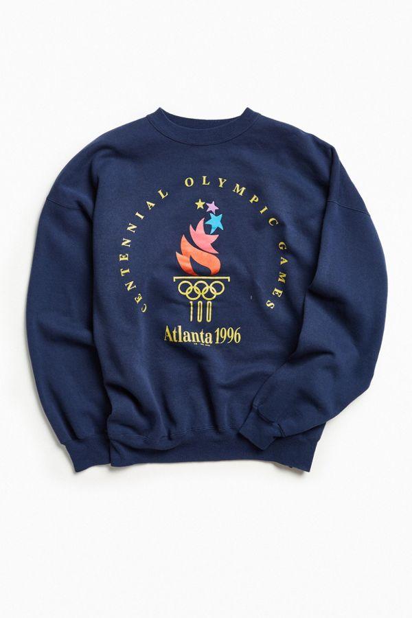 Vintage Atlanta Champion Olympics 1996 Crew Neck Sweatshirt tQrCdsxBoh