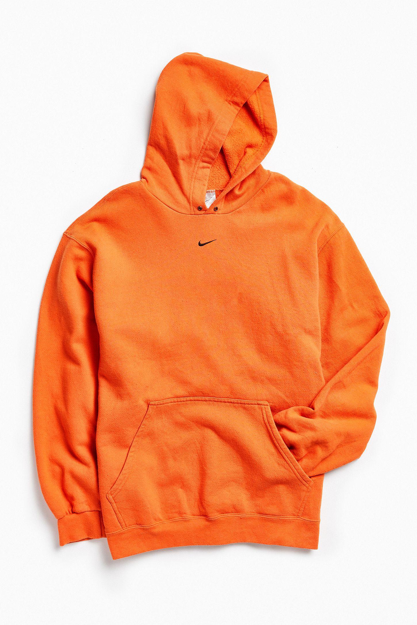 17bdf8b9cdf8 Vintage Nike Orange Logo Hoodie Sweatshirt