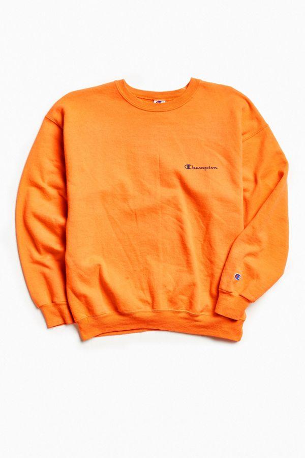 b0754838aca1 Vintage Champion Coral Orange Script Logo Crew Neck Sweatshirt ...
