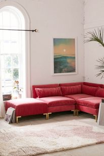Superb Cecilia Velvet Sectional Sofa Urban Outfitters Unemploymentrelief Wooden Chair Designs For Living Room Unemploymentrelieforg