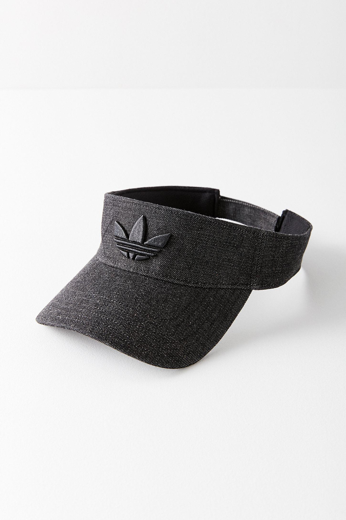 7fe71c3ad52bc adidas Originals Black Trefoil Visor