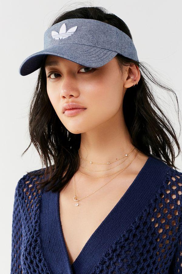 272b254eba731 adidas Originals Light Blue Trefoil Visor | Urban Outfitters