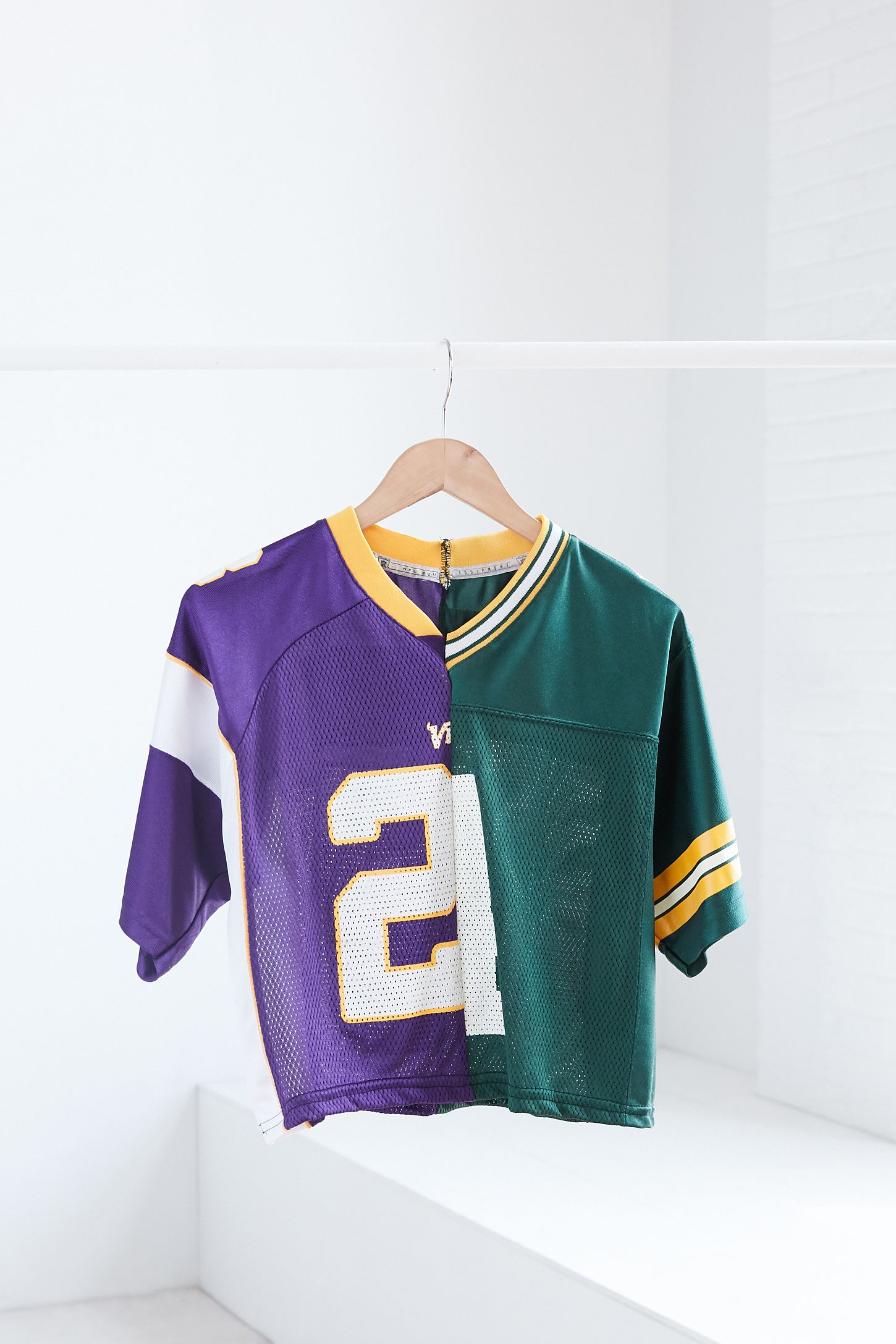 One Of A Kind Minnesota Vikings + Green Bay Packers 21 Spliced  dVahW9L8