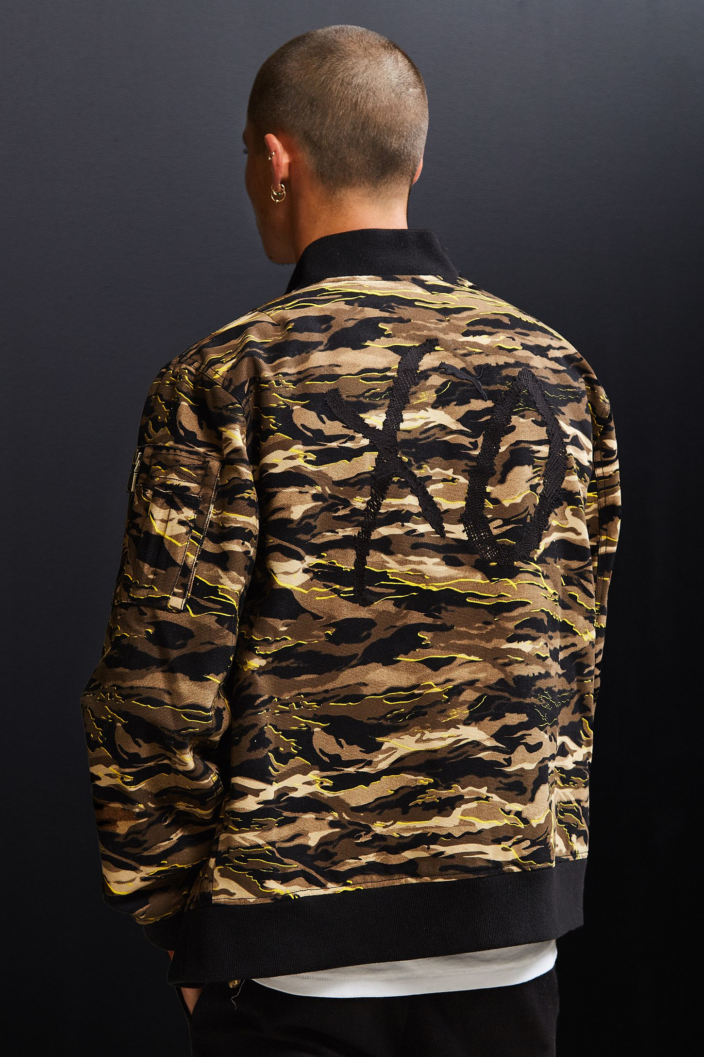 bd3b84475bcf Puma XO The Weeknd Camo Bomber Jacket