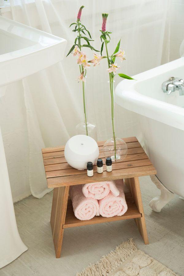 Wood Bath Stool Home Decorating Ideas