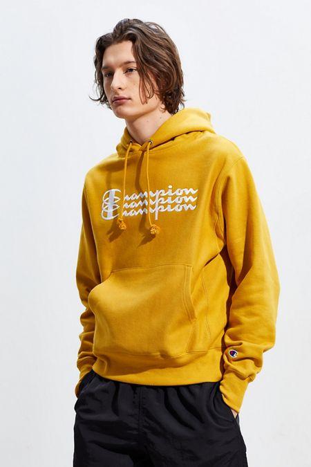 50b2df31ae77 Champion UO Exclusive Triple Script Reverse Weave Hoodie Sweatshirt