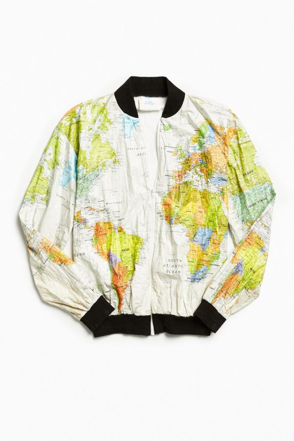 Vintage World Map Cycling Jacket