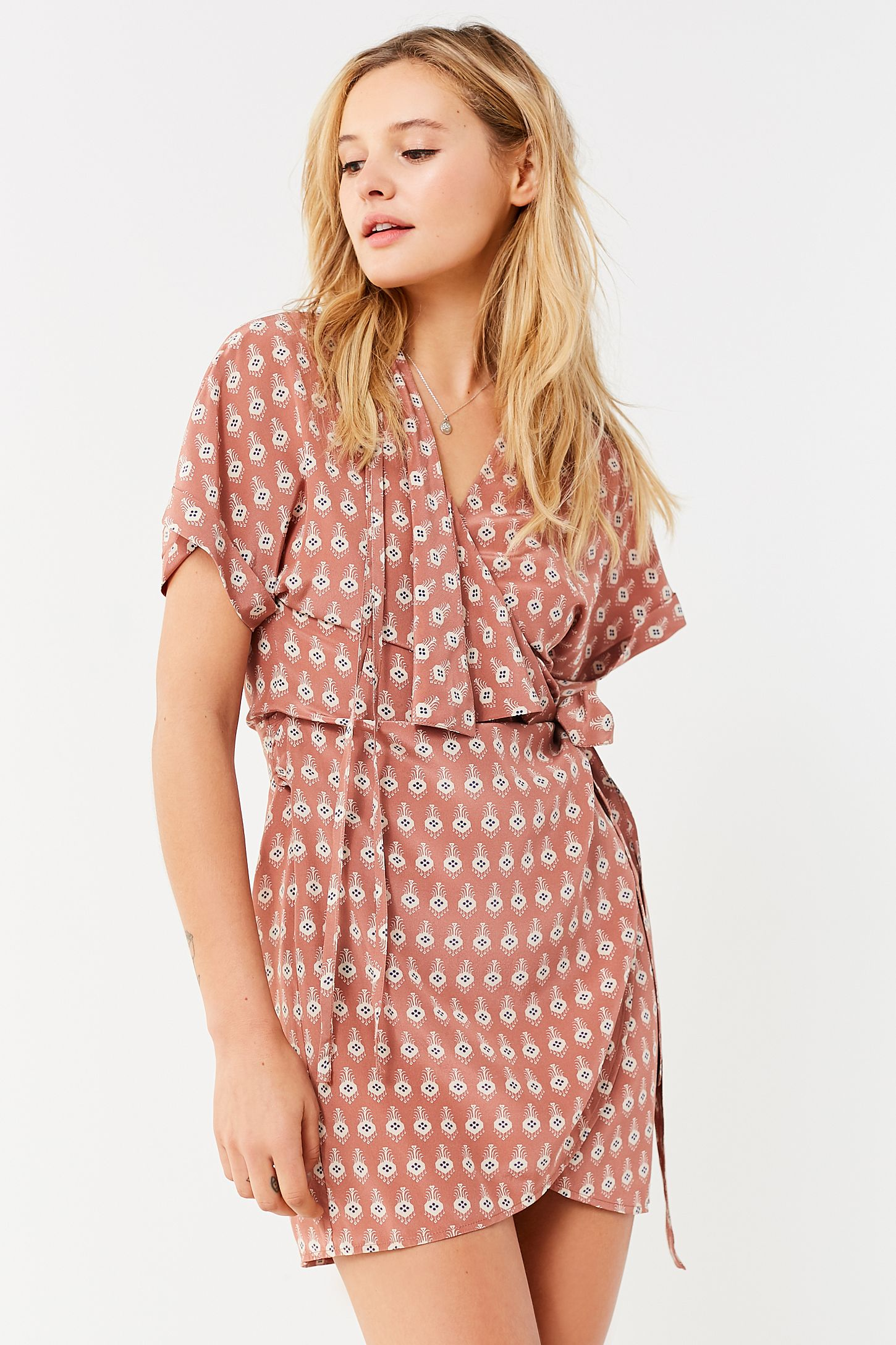 7b42e26629f8 SIR the label Florence Wrap Dress | Urban Outfitters