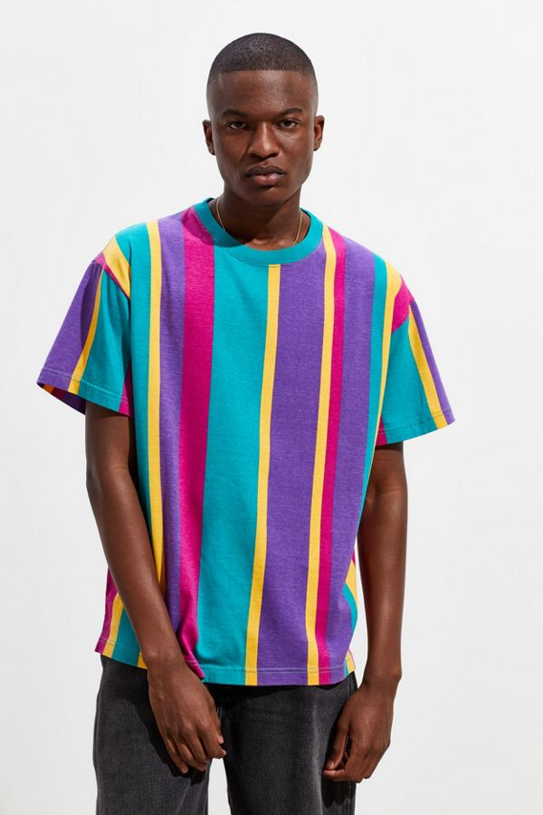 3f2489ff UO Dillon Vertical Stripe Tee | Urban Outfitters