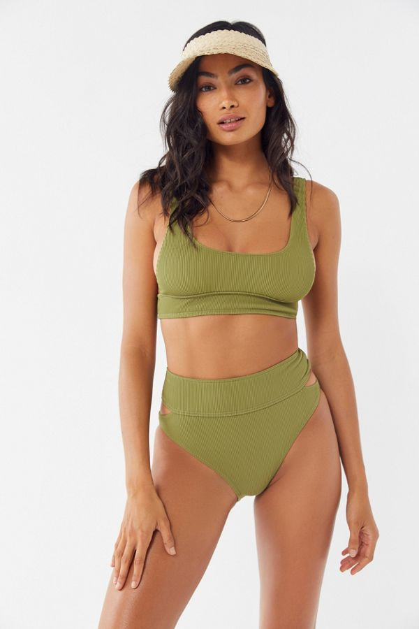 e98c2e66fc Out From Under Meg Ribbed Scoop Neck Bikini Top | Urban Outfitters