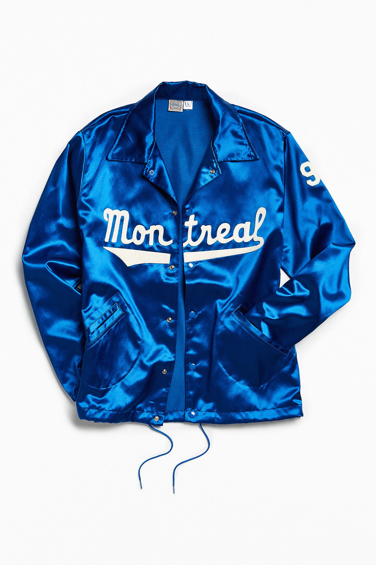 a94826444bc37 Ebbets Field Flannels Montreal Royals Satin Coach Jacket