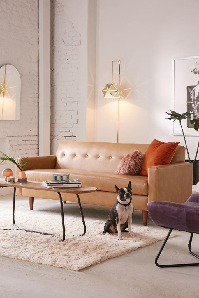 Sydney Recycled Leather Sofa Urban