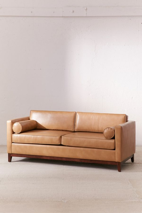 Piper Petite Recycled Leather Sofa