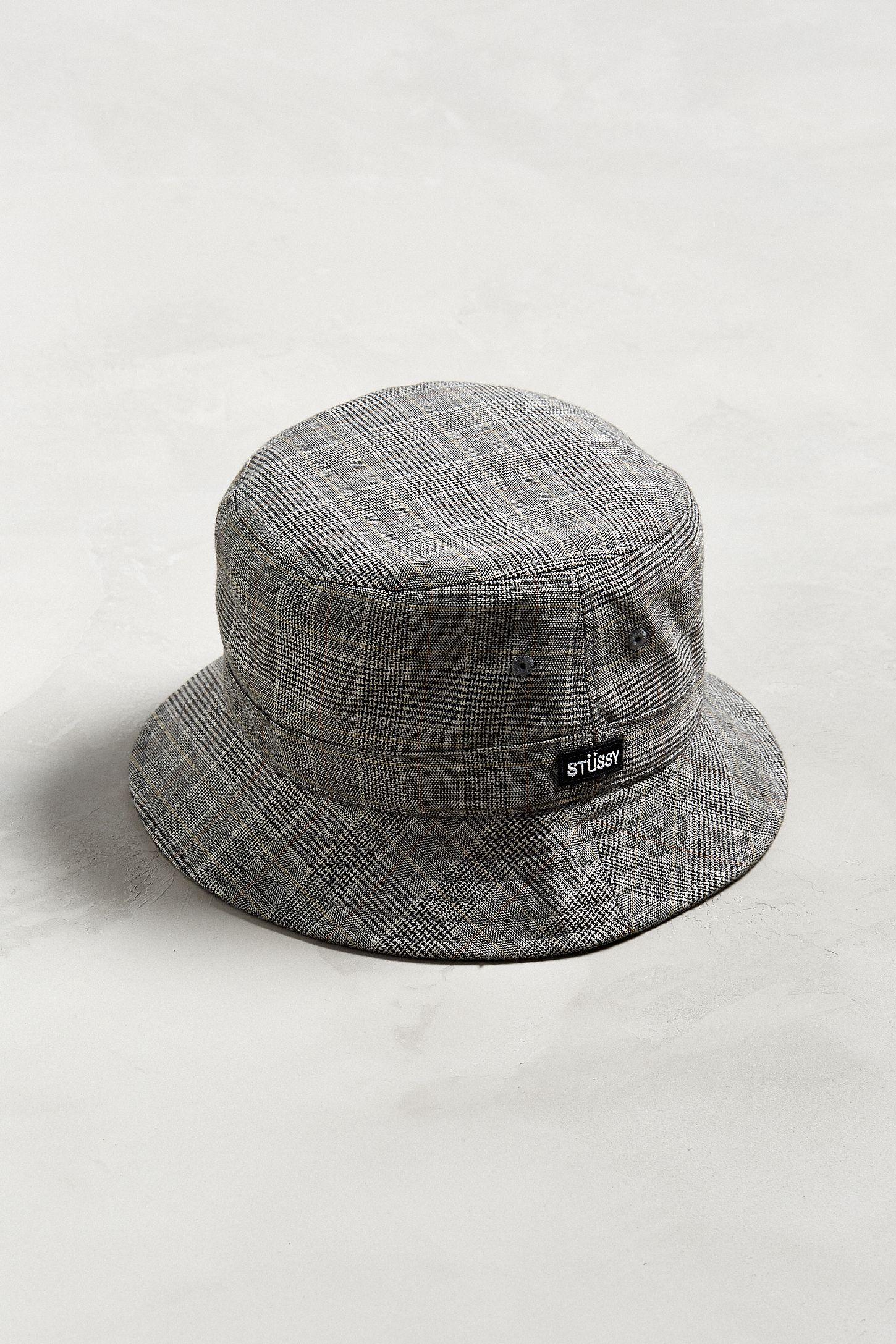 2a252eea8ff Stussy Glen Plaid Bucket Hat