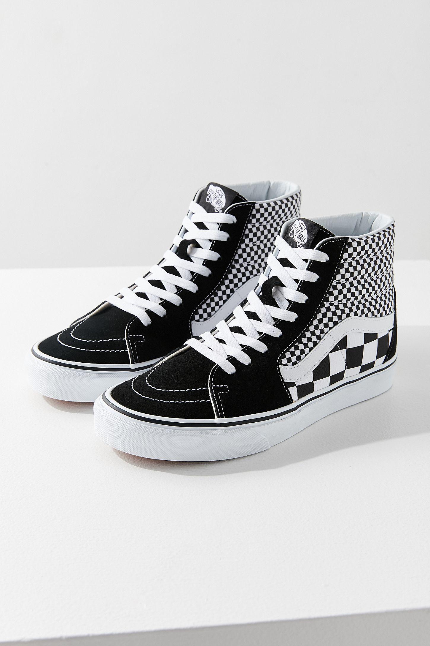 ecb9576898 Vans Sk8-Hi Mix Checkerboard Sneaker