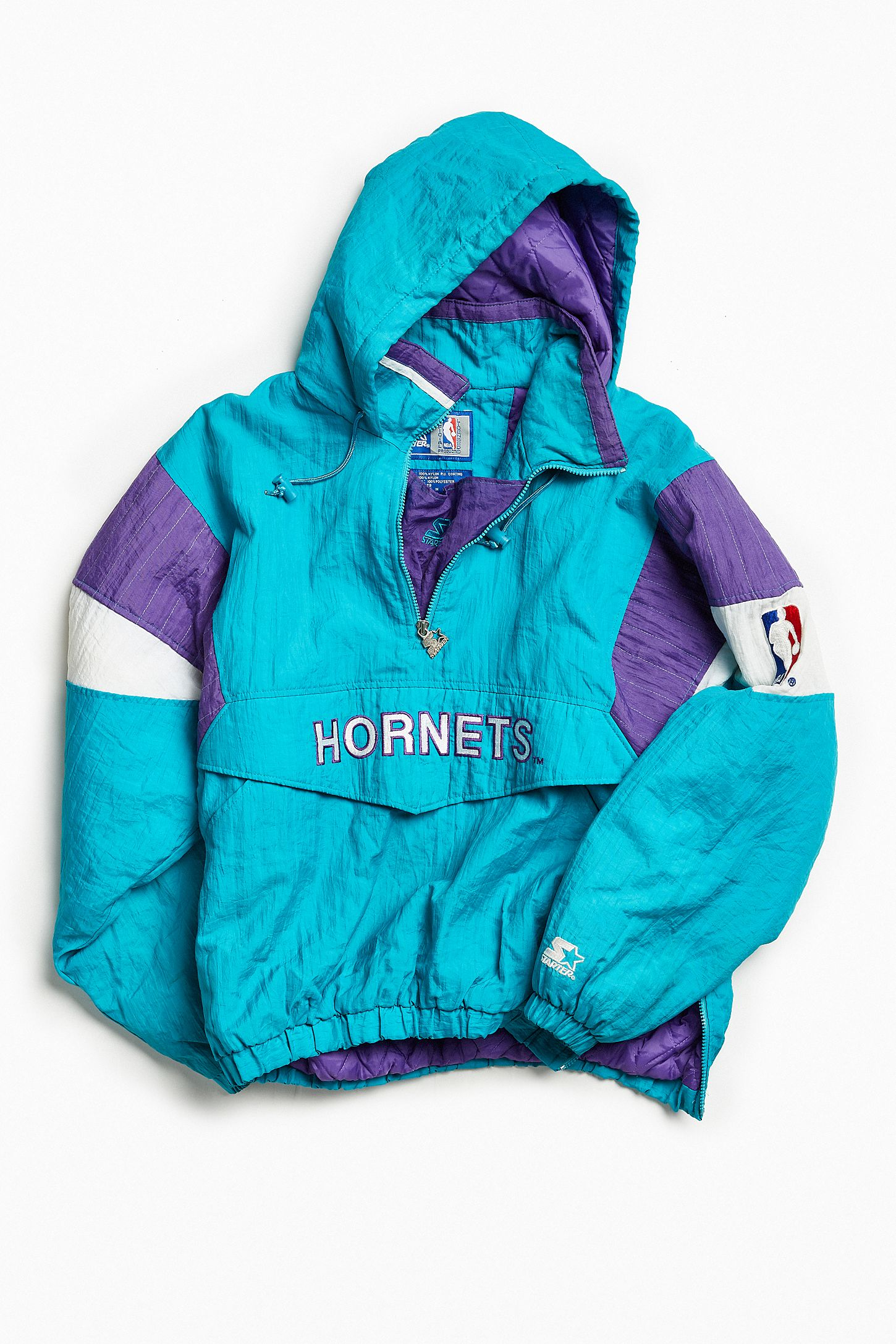 b1aa4404270 Vintage Starter Charlotte Hornets Anorak Jacket