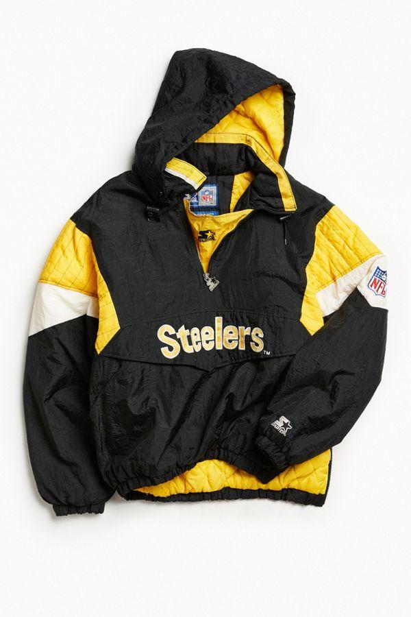 buy popular f6150 810bc Vintage Starter Pittsburgh Steelers Anorak Jacket