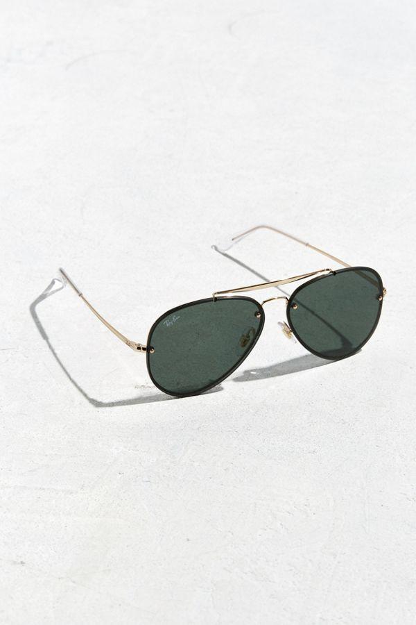0753b850a500 Ray-Ban Blaze Aviator Sunglasses | Urban Outfitters