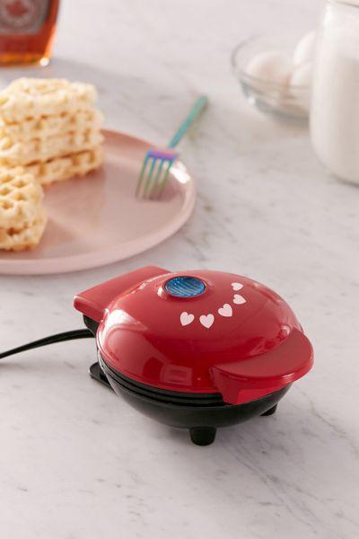 Heart-Shaped Mini Waffle Maker #1