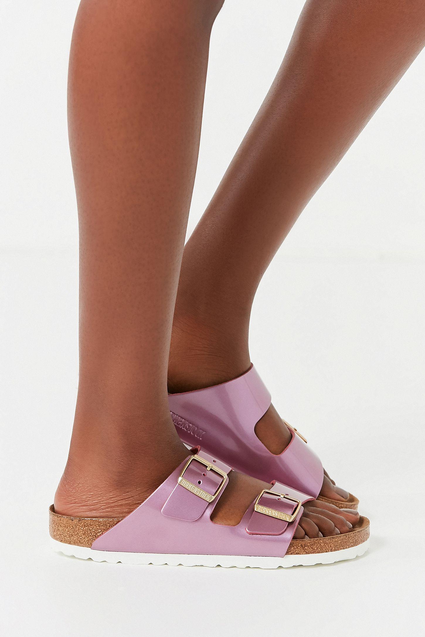 44c6cdfda088 Slide View  4  Birkenstock Arizona Soft Footbed Metallic Sandal