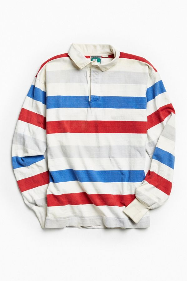 987fd1762cd Vintage McIntosh & Seymour Red Blue Grey Rugby Shirt | Urban Outfitters