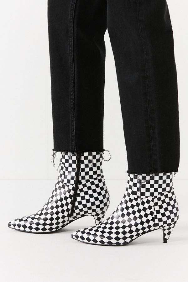 aa580fbe7a Jeffrey Campbell Muse Checkerboard Ankle Boot | Urban Outfitters