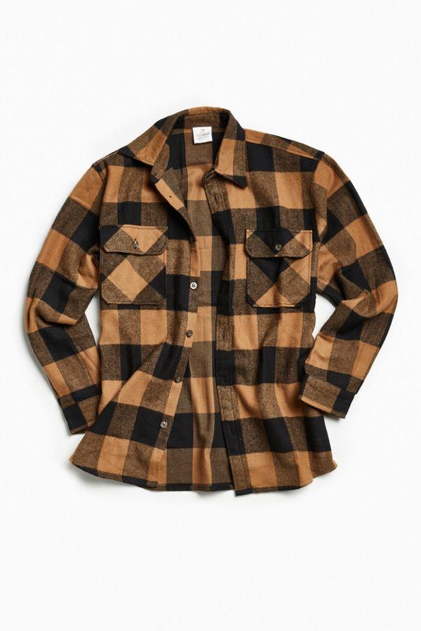 a9e93841501 Rothco Heavyweight Buffalo Plaid Flannel Button-Down Shirt