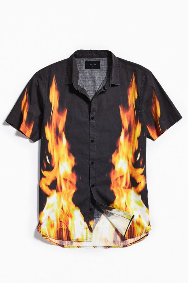 c6fdc793 Rolla's Fire Short Sleeve Button-Down Shirt | Urban Outfitters