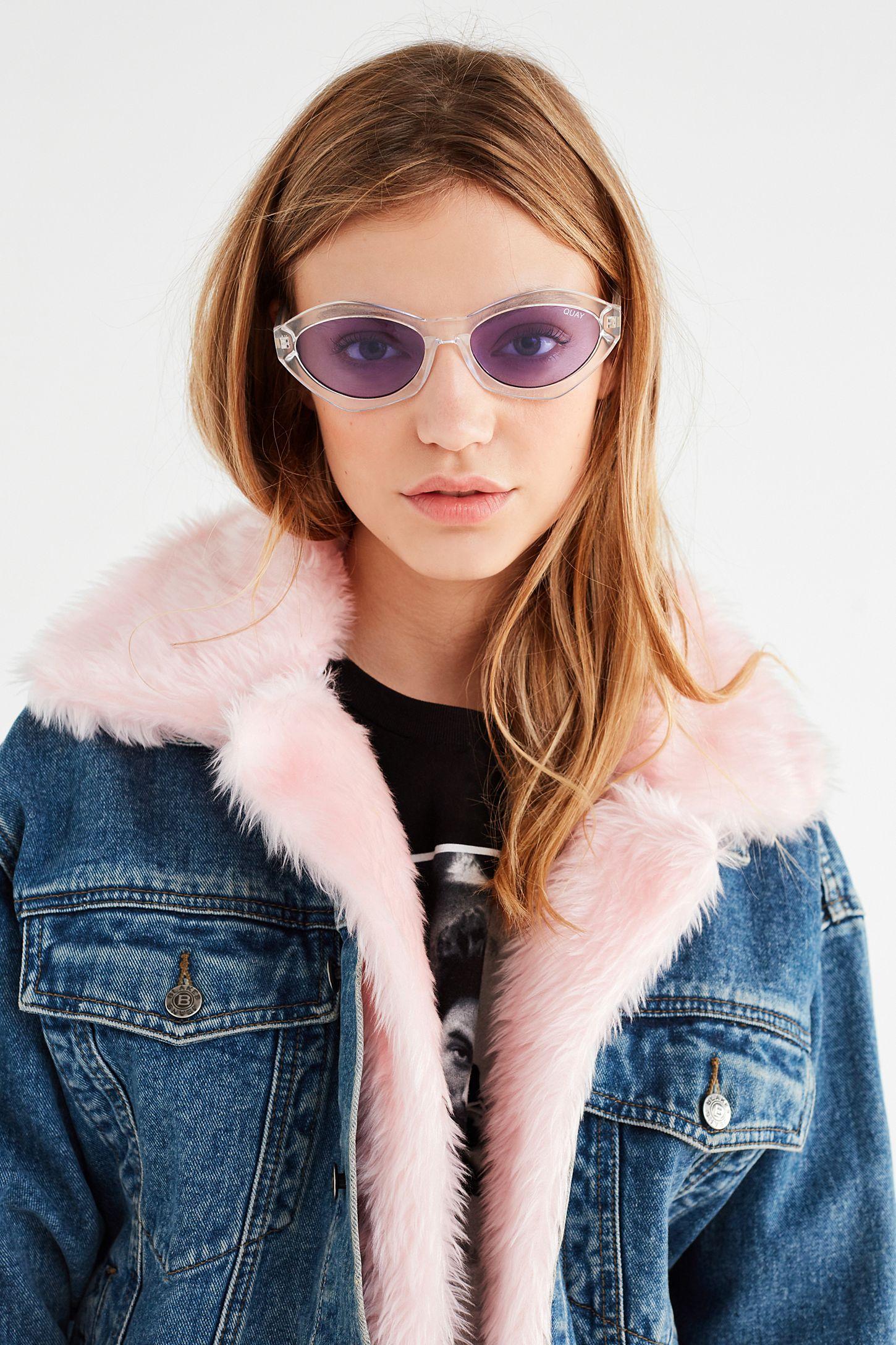 3fb5fdb0e3281 QUAYxKYLIE As If! Cat-Eye Sunglasses