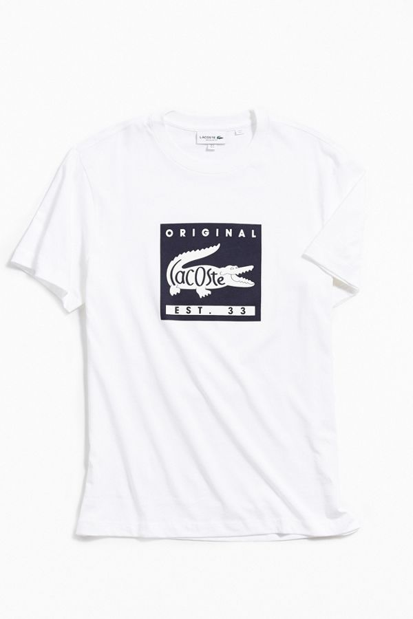fb1a2212cd4c Lacoste Patch Graphic Tee   Urban Outfitters