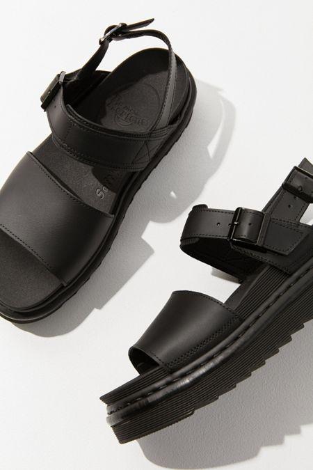 0a764cc93d8 Dr. Martens Voss Black Leather Sandal