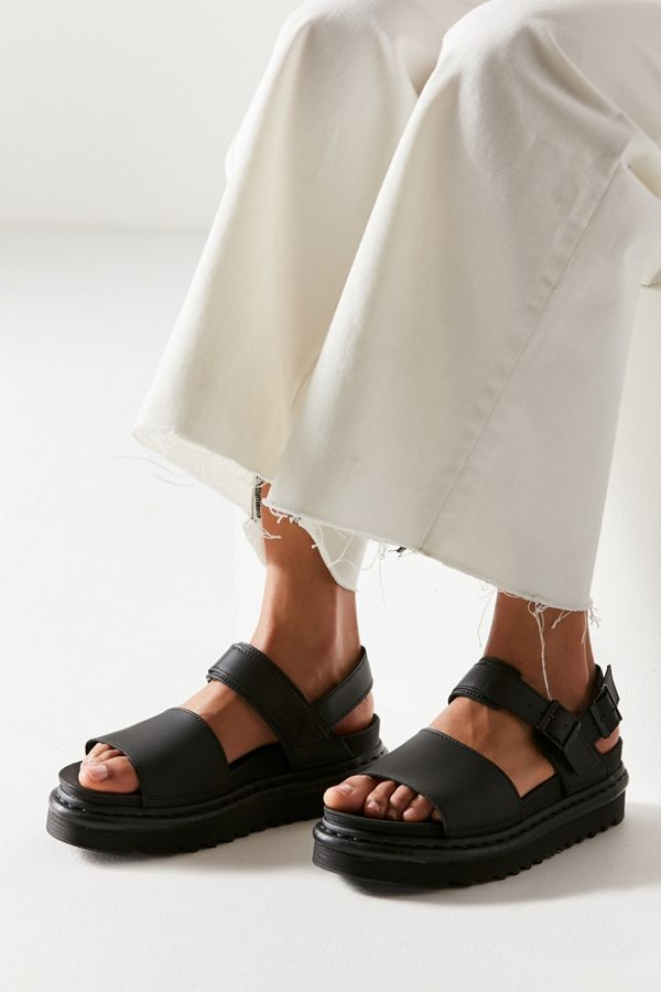 4d0da250f5e Slide View  2  Dr. Martens Voss Black Leather Sandal