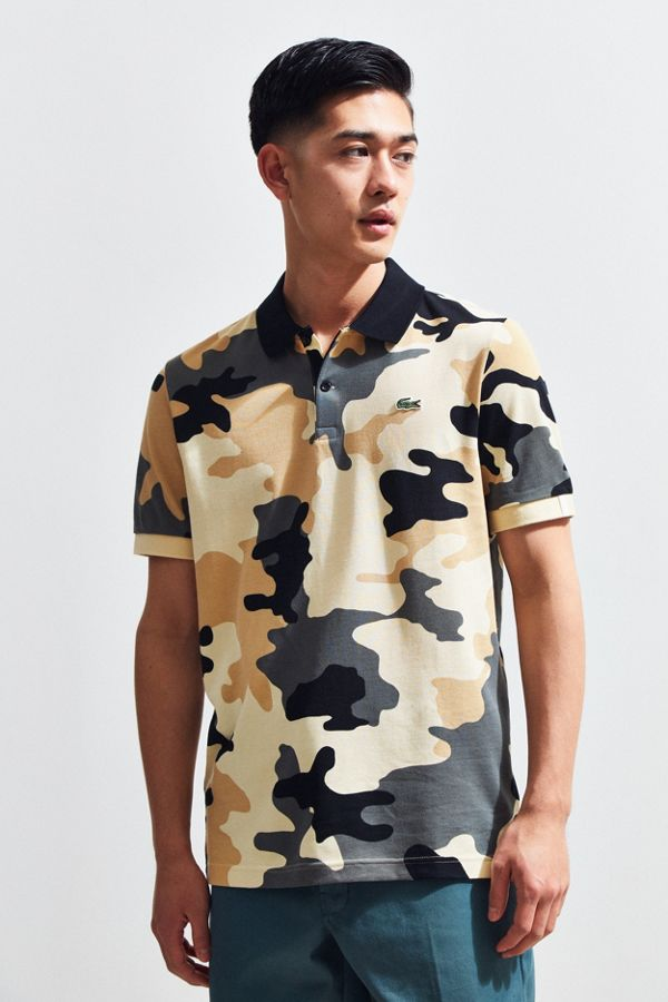31fbe9f59 Lacoste L!ve Camouflage Pique Polo Shirt | Urban Outfitters