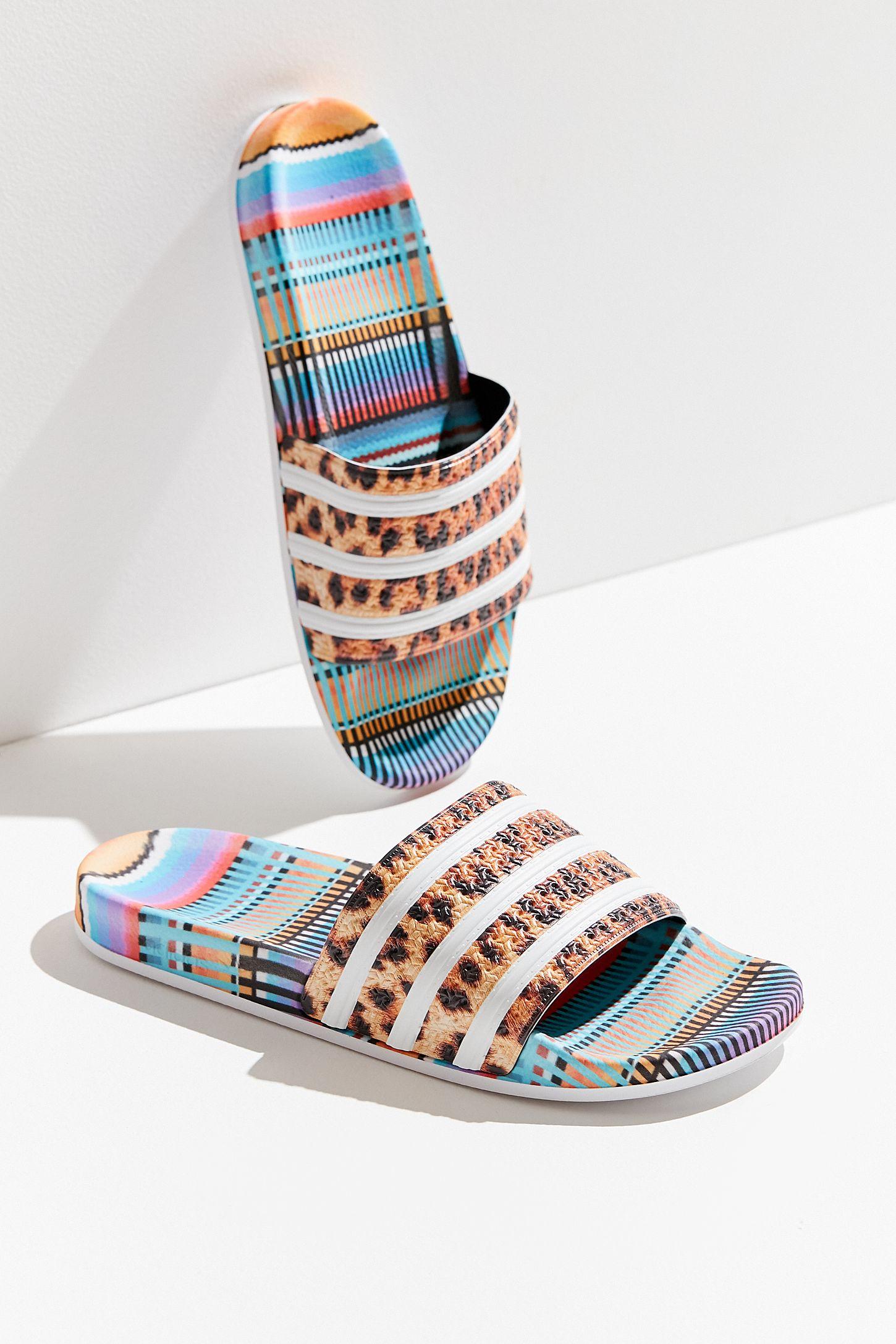 69f1c60b73fd adidas Originals Adilette Multi-Print Slide Sandal