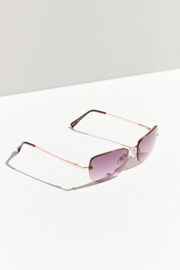 f91c9e2d877c7 Roxanne Rimless Square Sunglasses