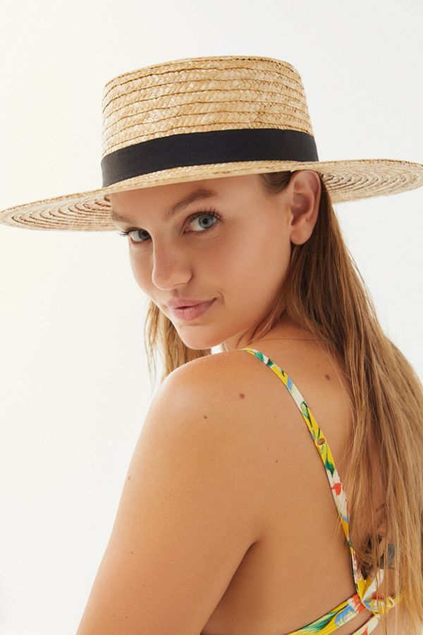9fdbd89a UO Straw Boater Hat | Urban Outfitters