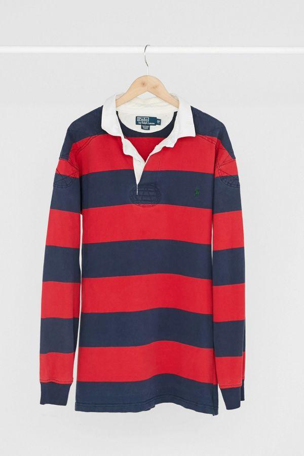 De Lauren Rugby Marine Polo 90 Robe Et Rouge Bleu Ralph Années Vintage T3clFK1J